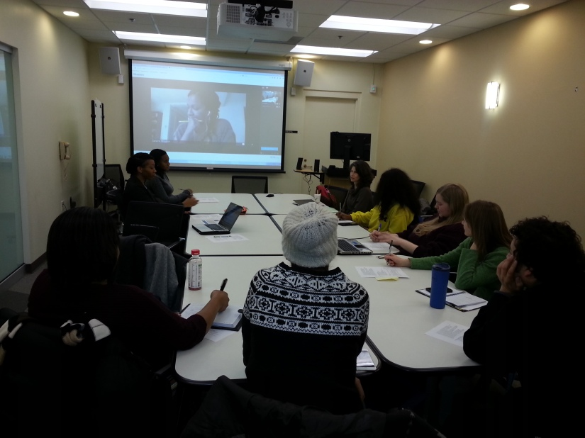 The first WRL meeting of the 2015 year (with Dr. Mouzon joining us via video-conference).